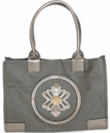 Pewter Marilyn Monogrammed Beach Tote