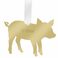 Pig Personalized Pet Ornament