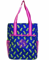 Pina Colada Pineapples Monogrammed Tall Tennis Tote