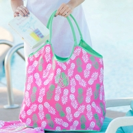 Pineapple Monogrammed Beach Bag