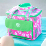 Pineapple Of My Eye Monogrammed Cooler Tote