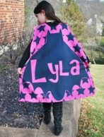 Pink Bat Stars Personalized Kids Super Hero Cape