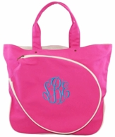 Pink Canvas Monogrammed Tennis Tote Bag