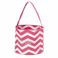 Pink Chevron Personalized Easter Bucket