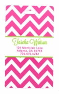 Pink Chevron Personalized Luggage Tags - SET OF 2
