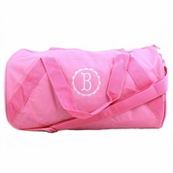 Pink Monogrammed Child's Duffel Bag