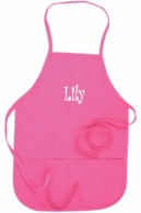 Pink Personalized Kids Apron
