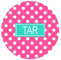 Pink Polkadot Monogrammed Coasters - SET OF 4