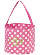 Pink Polkadot Personalized Easter Bucket
