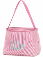 Pink Stripe Personalized Easter Mini Bucket
