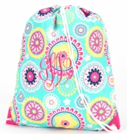 Piper Monogrammed Drawstring Gym Bag