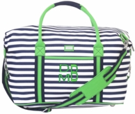 Piper Monogrammed Expanding Duffle Travel Bag