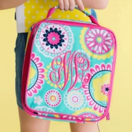 Piper Paisley Monogrammed Lunch Tote
