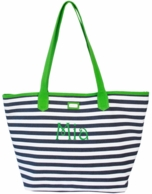 Piper Stripe Monogrammed Easy Tote Bag