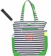 Piper Stripe Monogrammed Tennis Tote Bag