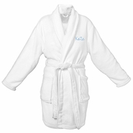 Plush Monogrammed White Spa Robe