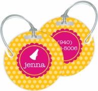 Polka Dots Personalized Bag Tags - SET OF 2 - CHOOSE YOUR DESIGN!
