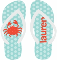 Polkadots Personalized Flip Flops - CHOOSE YOUR DESIGN!
