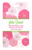 Poppies Personalized Luggage Tags - SET OF 2