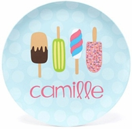 Popsicle Line Up Personalized Kids Plate