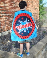 POW Boy Personalized Super Hero Cape