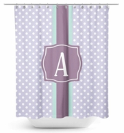 Preppy Dots Monogram Shower Curtain