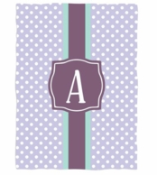 Preppy Dots Personalized Fleece Throw Blanket
