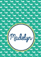 Preppy Whales Personalized Clipboard