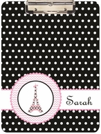 Pretty In Paris Personalized Clipboard