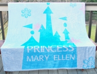 Princess Castle Personalized Fleece Throw Blanket