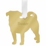 Pug Personalized Ornament