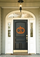 Pumpkin Wood Front Door Initial Monogram