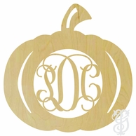Pumpkin Wood Wall Monogram