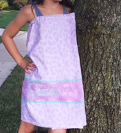 Purple Cheetah Personalized Kids Spa Wrap