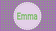 Purple Dots Personalized Kids Placemat