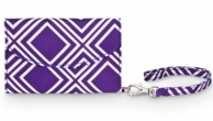 Purple Geo Cell Phone ID Wristlet