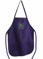 Purple Monogrammed Adult Apron
