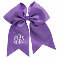 Purple Monogrammed Hair Bow