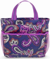 Purple Paisley Monogrammed Shower Caddy