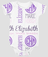 Purple Personalized Baby Onesie