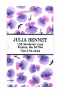 Purple Poppies Personalized Luggage Tags - SET OF 2