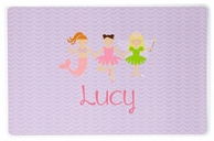 Purple Princess Line Up Personalized Kids Placemat