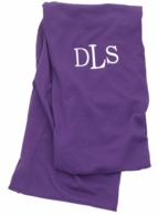 Purple Solid Monogrammed Infinity Scarf