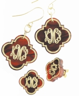 Quatrafoil Arabesque Monogram Acrylic Earrings