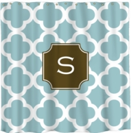 Quatrafoil Monogram Shower Curtain - DESIGN YOUR OWN!