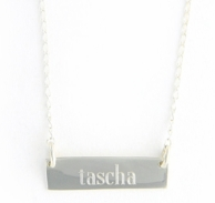 Rectangle Engraved Name Necklace