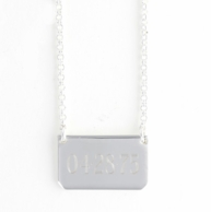 Rectangle Personalized Silver Necklace