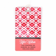 Pink Lattice Personalized Luggage Tags - SET OF 2