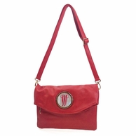 Red Monogrammed Samantha Clutch Handbag