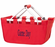 Red Personalized Large Market Tote